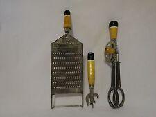 Ekco vint. kitchen utensils - 2 + Lightening Shredder - black/white wood handle