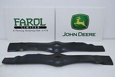 More details for genuine john deere mulching blades am130172 deck ride-on mower lx255 gt235 lt155