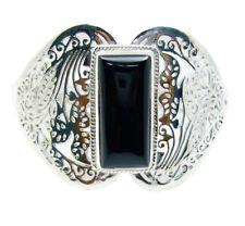 classy Black Onyx 925 Sterling Silver Black Bracelet wholesale gift for mom US