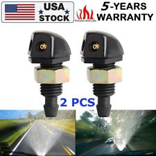 Pair Front Windshield Wiper Washer Nozzle Sprayer Plastic Car Vehicle Universal
