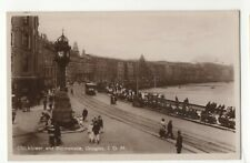 Isle Of Man Clock Tower & Promenade Douglas Vintage RP Postcard 122c
