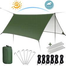 3x3m Camping Hammock Tent Tarp Rain Cover Waterproof Sun Shelter Garden Mat