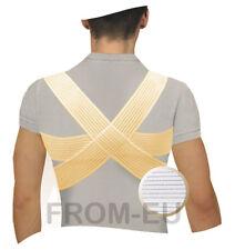 Deluxe Posture Corrector Shoulder & Back Support Brace Clavicle Splint Band Belt XL Beige