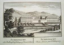 Bad  Schinznach Schenkenberg  Aargau  Schweiz Kupferstich von Herrliberger 1758