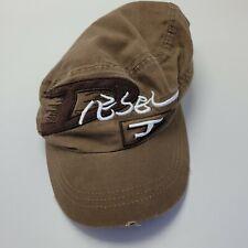 Diesel J 100% Cotton Hat Cap Brown Adult Used Strapback Br3