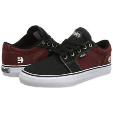 Etnies Barge LS Mens Black Blue Grey Suede Leather Trainers Skate Shoes Size UK