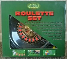 Jaques Of London Roulette Set - 40cm / 16 Inch Luxury Wheel Cards Chips Balls
