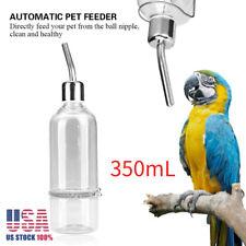 Bird Feeder Water Feeding Automatic Drinker Parrot Pet Dispenser w/Ball Nipple