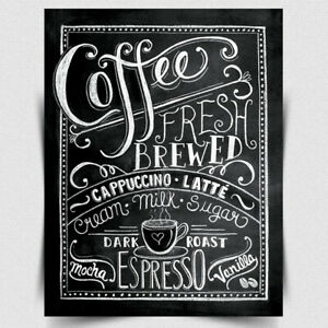 COFFEE FRESH BREWED METAL WALL SIGN/PLAQUE Funny Humorous quote kitchen print