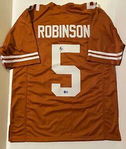 BIJAN ROBINSON Texas LONGHORNS Signed Custom College Football Jersey Beckett BAS