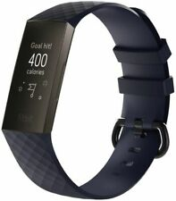 Small Navy Silicone Strap Buckle For Fitbit Charge 3 4 Replacement Band