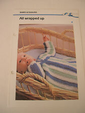 All Wrapped Up Baby Sleeping Bag Crochet Pattern Leaflet Quick 'n Easy Crochetin