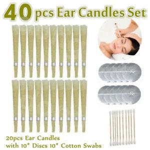 40pcs Set Hopi Ear Candling Natural Ear Wax Beeswax Aromatherapy Wax Candles