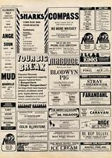 Blodwyn Pig Jethro Tull Marquee Club, London MM4 show Advert 1974