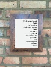 A4 Dr Seuss Quote Print Unframed Not So Good Street Wall Minimalist