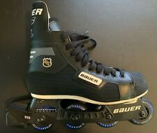 Bauer Authentic Nhl Rh 300 Hockey Inline Skates Superlight Chassis Sz 8