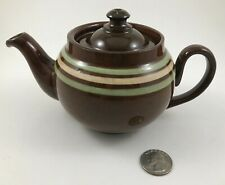 Alcock Lindley Bloore (ALB) Striped Brown Betty 12 oz Teapot England, It Leaks!!
