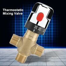 "G1/2"" Cold Hot Water Mixing Valve Faucet Pipe Thermostatic Temperature Control J"