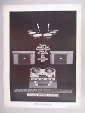 Sony Reel-To-Reel Tape Recorder PRINT AD - 1965 ~~ Sterecorder 200
