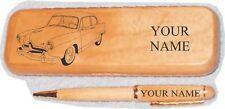Henry J Coupe Maple Pen Case Engraved