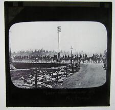BOER COMMANDO ON THE MARCH  Boer War Antique Magic Lantern Military  Glass Slide