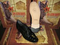 MENS GENUINE AUTHENTIC BLACK CROCODILE & TEJU LIZARD DRESS SHOE (EE) ZV093705