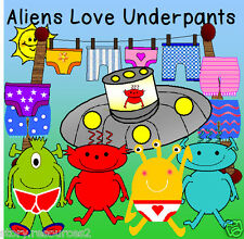 ALIENS LOVE UNDERPANTS STORY TEACHING RESOURCES SPACE TOPIC RESOURCE KS1 EYFS