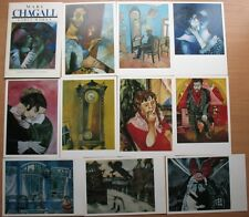 Russian Set Painting Marc Chagall Rare CARD 16 Reproductions Art Early Work Old