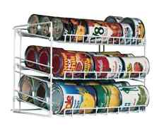 Can Food Storage Kitchen Pantry Cabinet Organizer Canned Goods Rack Holder Shelf