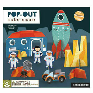 Petit Collage Pop-out Outer Space - Pop out 3D puzzle for children