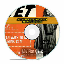Jet Magazine, Volume 1, 320 Issues, 1951-1959, Black History PDF DVD C96
