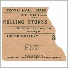 Rolling Stones 1964 Birmingham Town Hall Concert Ticket Stub (UK)