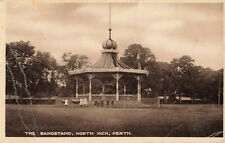 More details for rare vintage postcard - the bandstand, north inch, perth, scotland (1917).