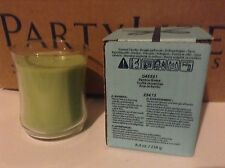 PARTYLITE ESCENTIAL JAR CANDLE BAMBOO BREEZE GLASS CANDLE RARE HTF!!
