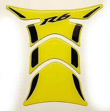 Yamaha R6 Yellow +Black tank Protector pad Decal Sticker trim guard