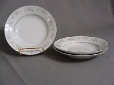 3 Sango Majesty Collection Soup Bowls In The Cannes #8078 Pattern, China