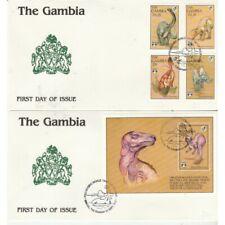 Gambia 1992 Series Fauna Prehistoric Animals 4 Val + Bf Su 2 Bags FDC MF71243