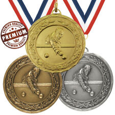 POOL MEDAL 50mm EMBOSSED TOP QUALITY, WITH FREE RIBBON, GOLD SILVER BRONZE