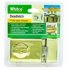 Whitco DEADLATCH Double Cylinder for Timber/Metal Door- GOLD PLATED *Aust Brand
