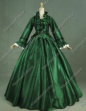 Civil War Victorian Ball Gown Dress Theater Women Witch Halloween Costume 170 M