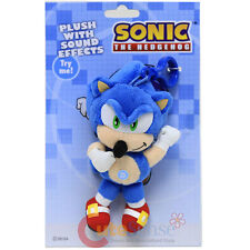 Sonic The Hedgehog Sonic Plush Doll Key Chain with Game Sound Sonic Clip On