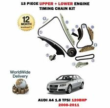 FOR AUDI A4 1.8 TFSI CABA 120BHP 2008-2011 UPPER LOWER TIMING CHAIN KIT COMPLETE