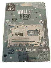 WALLET HERO Credit card size Multi-Tool:Mobile phone holder & gadgets.ideal gift