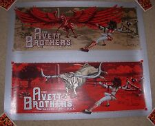 THE AVETT BROTHERS concert gig tour poster DALLAS 2015 UNCUT Sheet dig my chili
