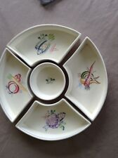 Vintage 1950s/60s POOLE Pottery 5 Part Hors D'Oeuvres DIsh