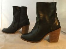 Jeffrey Campbell Black Leather Ankle Booties, Women Size 7