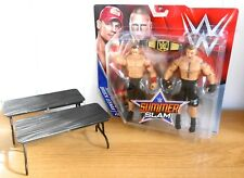 WWE - John Cena & Brock Lesnar - wrestling figures w/ 2 x breakable tables