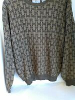Vintage Cosby Sweater Coogi style 3D Textured Weave sz medium Shirt Holiday