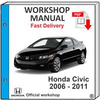 HONDA CIVIC 2006 2007 2008 2009 2010 2011 SERVICE REPAIR MANUAL WORKSHOP MANUAL