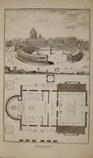 Stampa antica San Pietro Diderot D'Alambert 1780 old print Roma engraving gravur